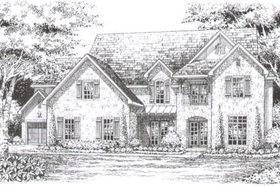 European Exterior - Front Elevation Plan #141-270