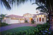 Mediterranean Style House Plan - 3 Beds 3.5 Baths 3316 Sq/Ft Plan #115-105 Exterior - Front Elevation