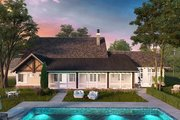 European Style House Plan - 4 Beds 3.5 Baths 3922 Sq/Ft Plan #942-38 Exterior - Rear Elevation