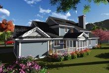 Dream House Plan - Craftsman Exterior - Rear Elevation Plan #70-1252