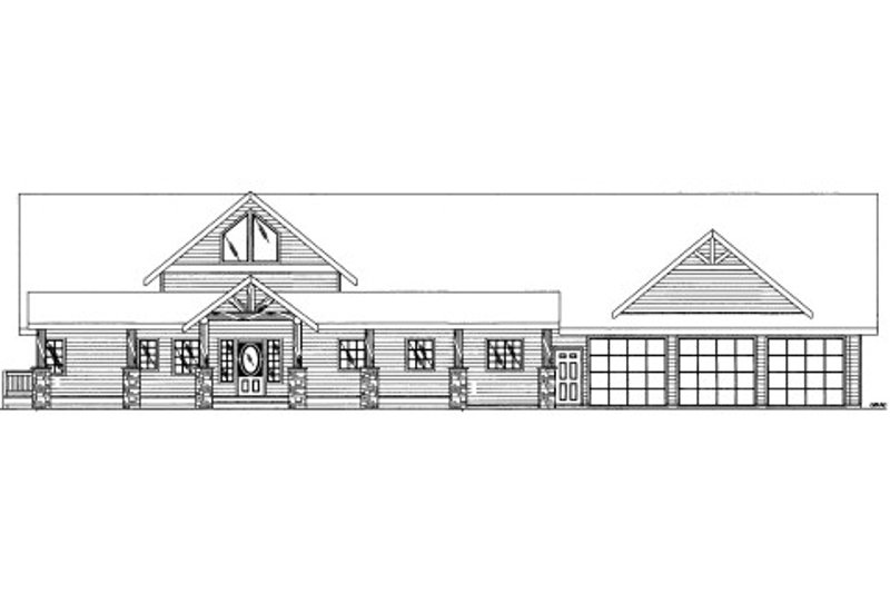 Bungalow Style House Plan - 3 Beds 2.5 Baths 2738 Sq/Ft Plan #117-722 Exterior - Front Elevation
