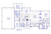 Farmhouse Style House Plan - 4 Beds 4.5 Baths 3946 Sq/Ft Plan #901-145 Floor Plan - Main Floor Plan
