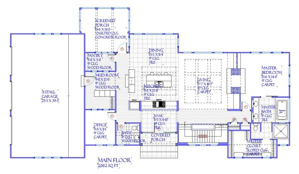 Farmhouse Floor Plan - Main Floor Plan Plan #901-145