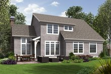 Craftsman Exterior - Rear Elevation Plan #48-677