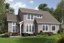 Craftsman Exterior - Rear Elevation Plan #48-677