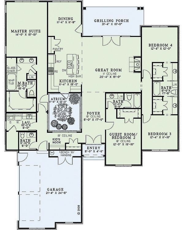 European Floor Plan - Main Floor Plan Plan #17-2428
