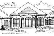 European Style House Plan - 4 Beds 3 Baths 3528 Sq/Ft Plan #325-169 Exterior - Front Elevation