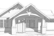Craftsman Style House Plan - 3 Beds 2 Baths 1603 Sq/Ft Plan #895-109 Exterior - Other Elevation
