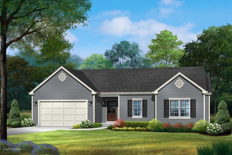 Dream House Plan - Ranch Exterior - Front Elevation Plan #22-624