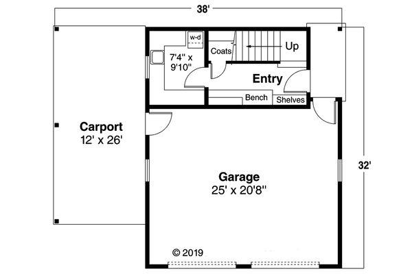 Craftsman Floor Plan - Main Floor Plan Plan #124-932