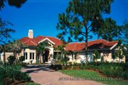 Mediterranean Style House Plan - 3 Beds 4 Baths 4009 Sq/Ft Plan #930-110 Exterior - Front Elevation