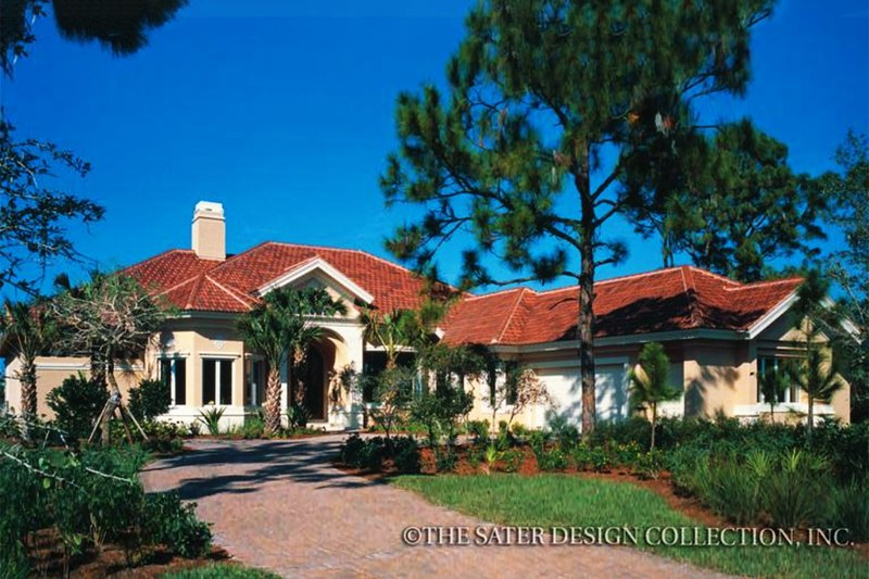 House Plan Design - Mediterranean Exterior - Front Elevation Plan #930-110