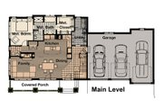 Craftsman Style House Plan - 4 Beds 3.5 Baths 2243 Sq/Ft Plan #908-3 Floor Plan - Main Floor Plan
