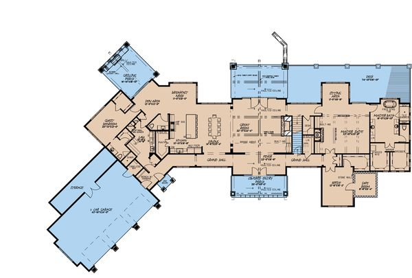 Architectural House Design - Craftsman Floor Plan - Main Floor Plan #923-179