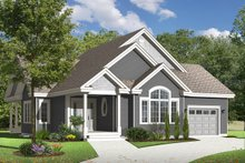 Home Plan - Country Exterior - Front Elevation Plan #23-2529