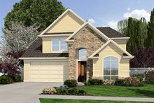 Home Plan - Traditional Exterior - Front Elevation Plan #48-502