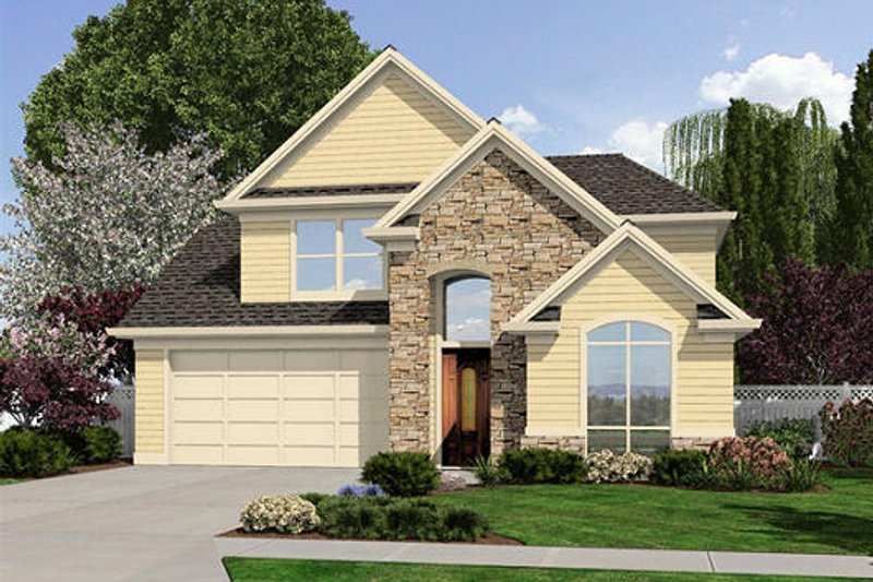 Traditional Exterior - Front Elevation Plan #48-502