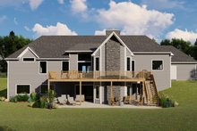 House Plan Design - Craftsman Exterior - Rear Elevation Plan #1064-71