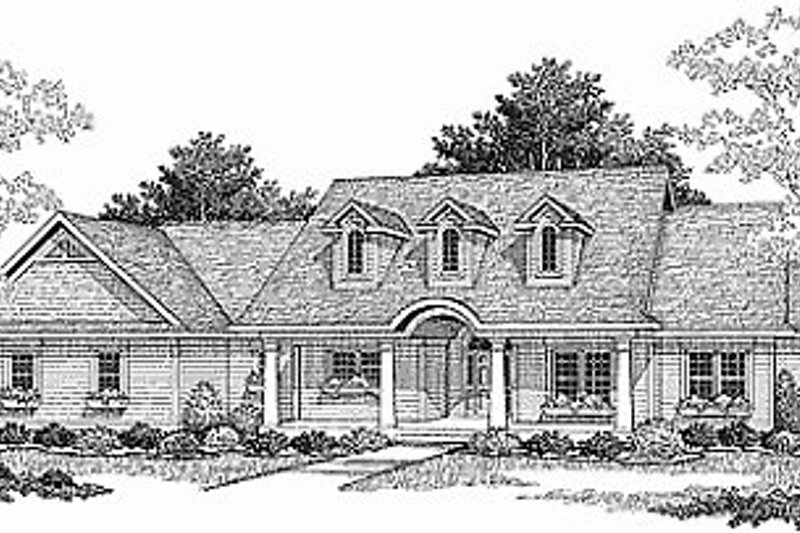 Country Style House Plan - 3 Beds 2.5 Baths 1781 Sq/Ft Plan #70-197 Photo