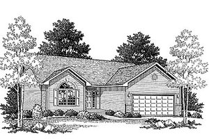 Traditional Exterior - Front Elevation Plan #70-107