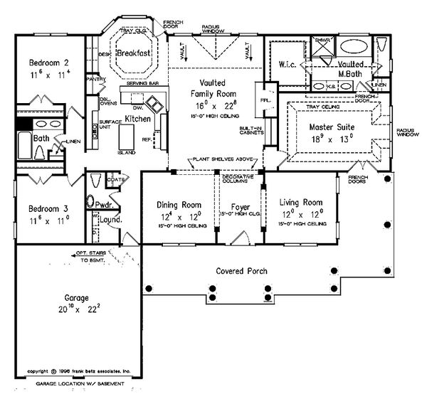 Country Floor Plan - Main Floor Plan Plan #927-150