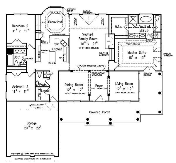 House Design - Country Floor Plan - Main Floor Plan #927-150