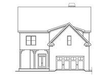 Colonial Exterior - Rear Elevation Plan #419-251