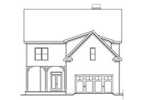 Colonial Exterior - Rear Elevation Plan #419-251