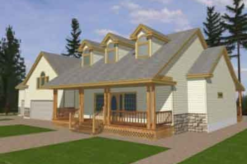 Southern Exterior - Front Elevation Plan #117-147 - Houseplans.com