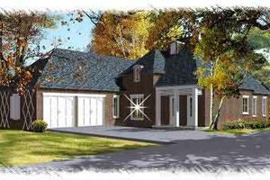 European Exterior - Front Elevation Plan #15-278