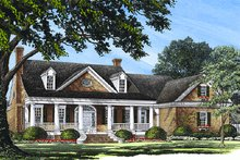 Southern Exterior - Front Elevation Plan #137-185
