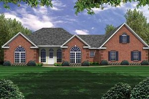Traditional Exterior - Front Elevation Plan #21-134