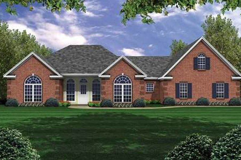 Traditional Exterior - Front Elevation Plan #21-134 - Houseplans.com