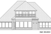 Tudor Style House Plan - 4 Beds 3.5 Baths 3702 Sq/Ft Plan #84-613 Exterior - Rear Elevation