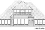 Tudor Style House Plan - 4 Beds 3.5 Baths 3702 Sq/Ft Plan #84-613 Exterior - Rear Elevation