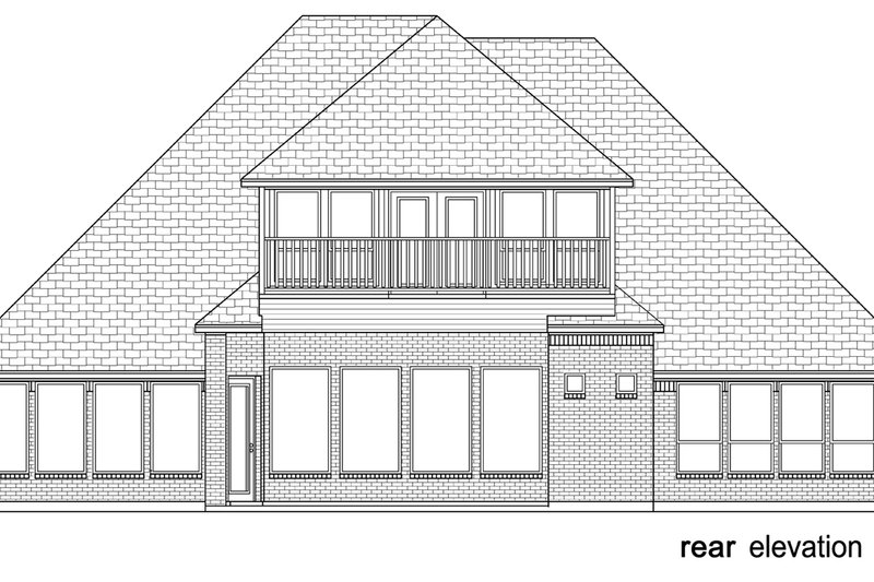 Tudor Exterior - Rear Elevation Plan #84-613 - Houseplans.com
