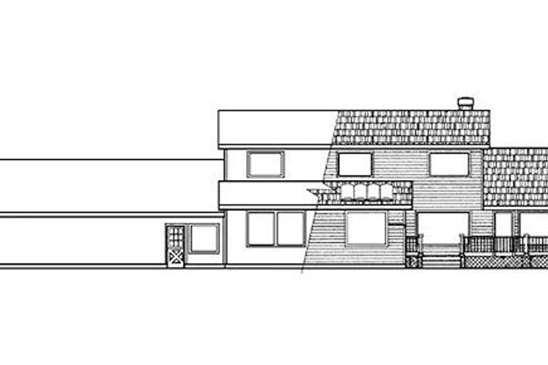 Ranch Exterior - Rear Elevation Plan #60-150 - Houseplans.com