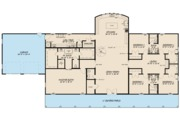 Farmhouse Style House Plan - 5 Beds 3.5 Baths 3277 Sq/Ft Plan #923-114 Floor Plan - Main Floor Plan