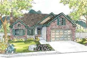 Ranch Exterior - Front Elevation Plan #124-526