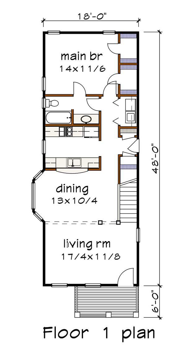 Cottage Floor Plan - Main Floor Plan Plan #79-177