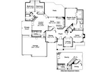 Ranch Floor Plan - Main Floor Plan Plan #124-289