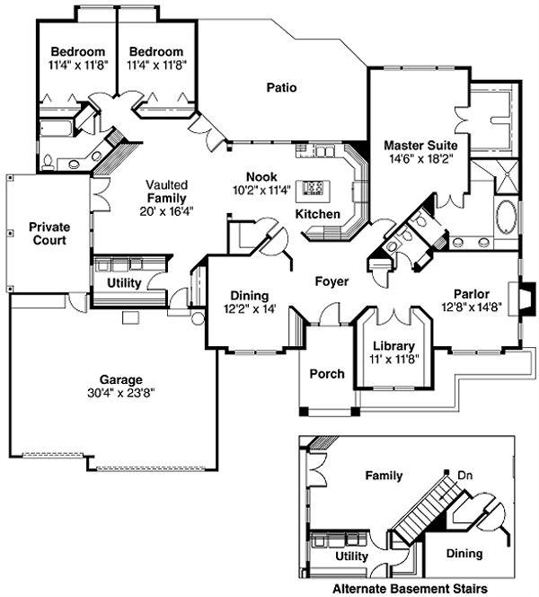 Dream House Plan - Ranch Floor Plan - Main Floor Plan #124-289