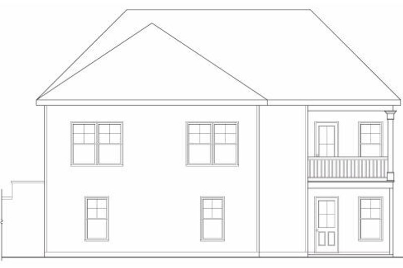 Traditional Exterior - Rear Elevation Plan #419-170 - Houseplans.com