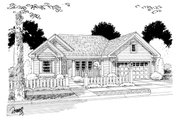 Cottage Style House Plan - 3 Beds 2 Baths 998 Sq/Ft Plan #513-2055