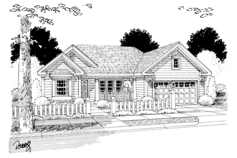 Cottage Exterior - Other Elevation Plan #513-2055 - Houseplans.com
