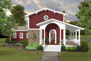 Modern Exterior - Front Elevation Plan #56-723