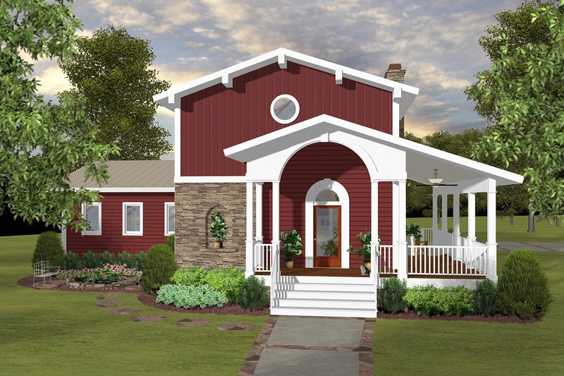 Architectural House Design - Modern Exterior - Front Elevation Plan #56-723