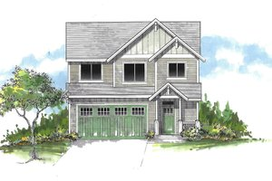 Dream House Plan - Craftsman Exterior - Front Elevation Plan #53-548