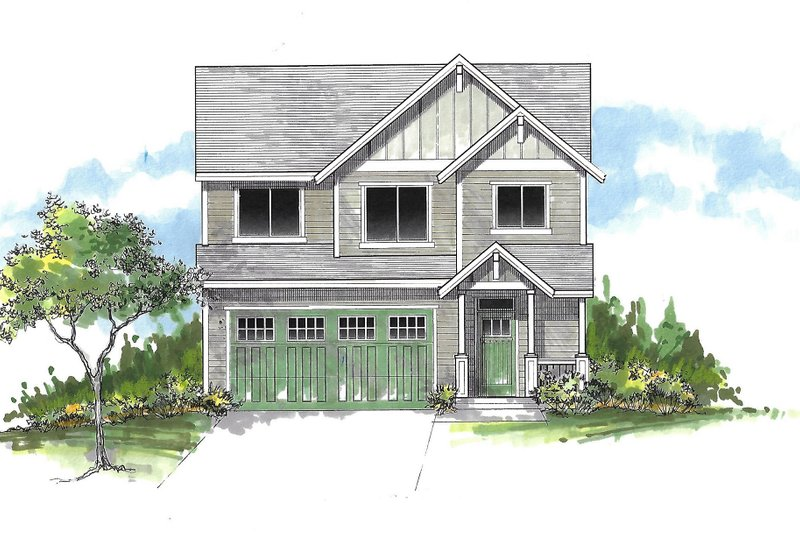 Architectural House Design - Craftsman Exterior - Front Elevation Plan #53-548