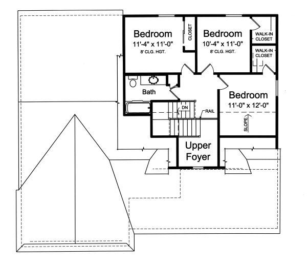 Home Plan - European Floor Plan - Upper Floor Plan #46-889